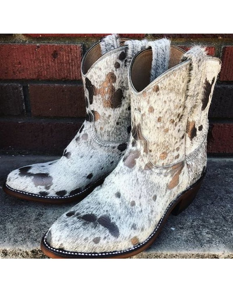 LUCCHESE BRONZE HAIR ON BOOTIES