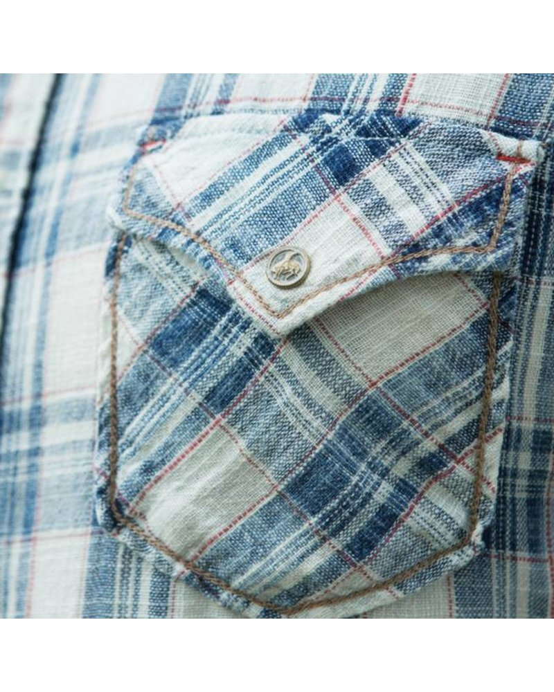 RYAN MICHAEL KETCHUM TEXTURED PLAID SHIRT
