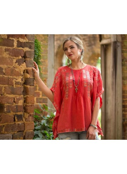 RYAN MICHAEL FIESTA EMBROIDERED PONCHO