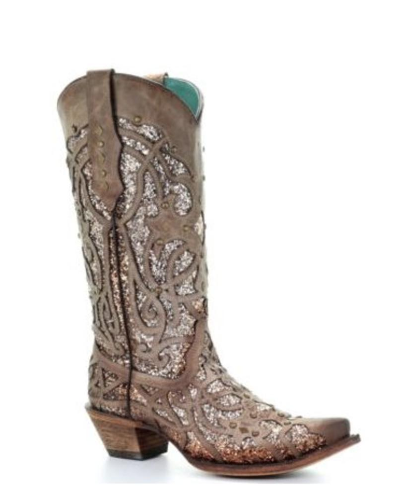 ORIX GLITTER INLAY WITH STUDS BOOT