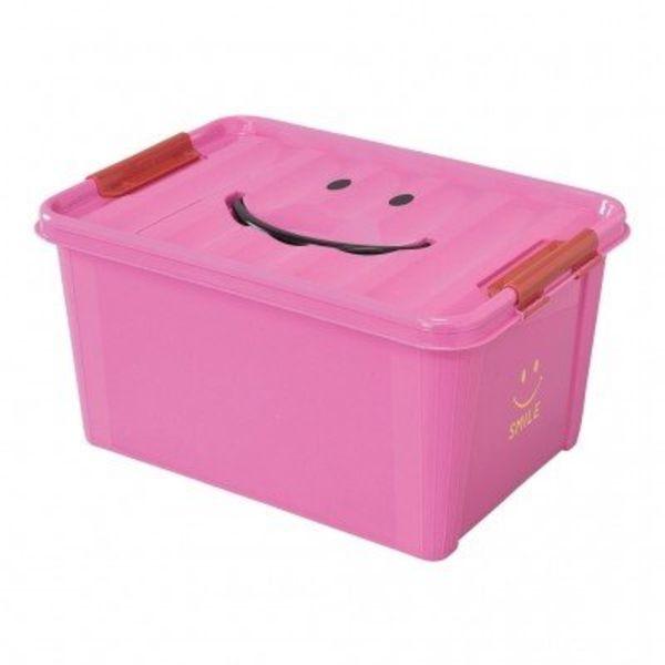 SMILE STORAGE BOX/Kids   Pink, Medium