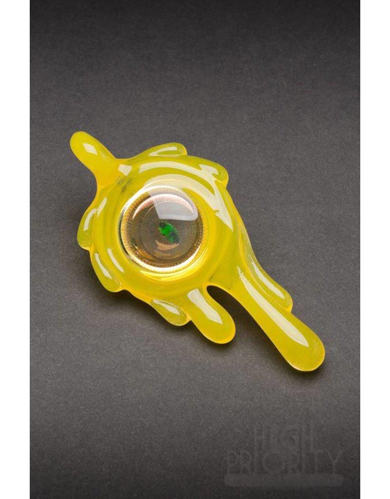 Disk Glass Disk Glass Lemon Drop Pendant
