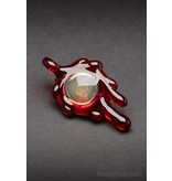 Disk Glass Disk Glass Red Elvis Pendant