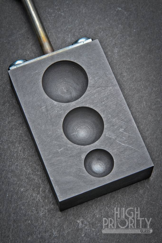 Griffin Glass Tools Griffin 3 Hole Graphite Marble Mold Paddle