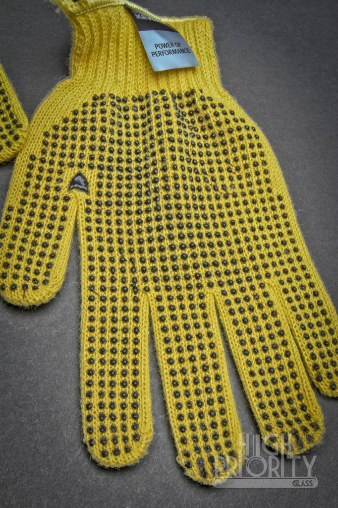Griffin Glass Tools Griffin Yellow Kevlar Black Dotted Gloves