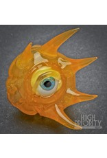 JBob Glass JBob Evil Eyeball Pendant Orange