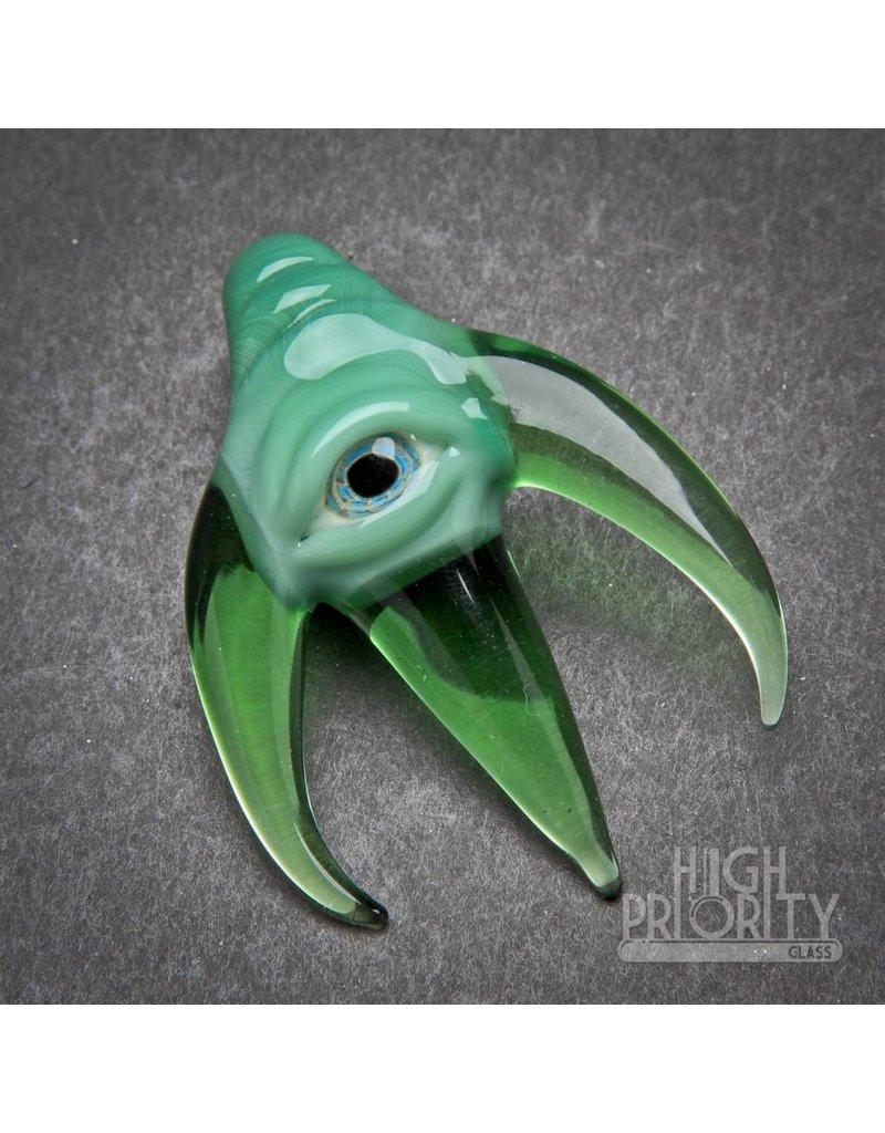 JBob Glass JBob Horned Eyeball Pendant Green