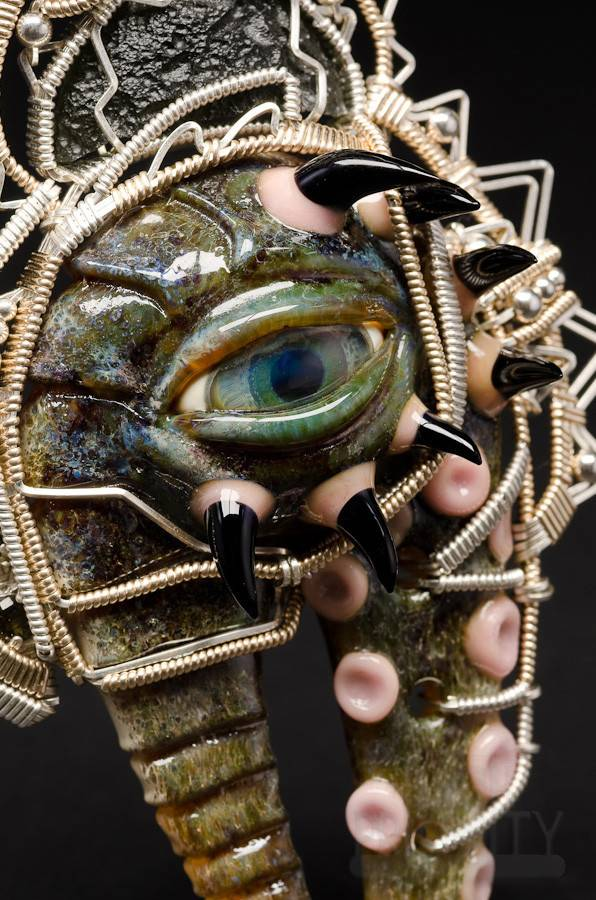 Salt Glass Salt & Jason Burruss Monster Pendant