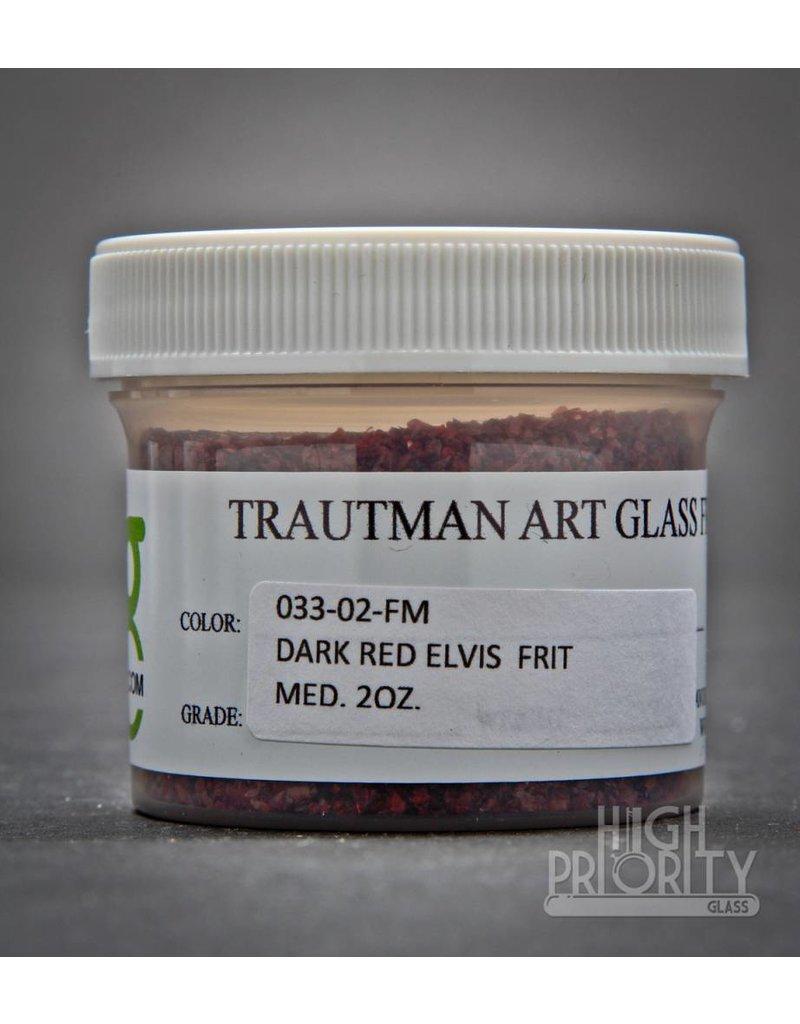 Trautman Art Glass TAG Frit Dark Red Elvis 2oz Medium