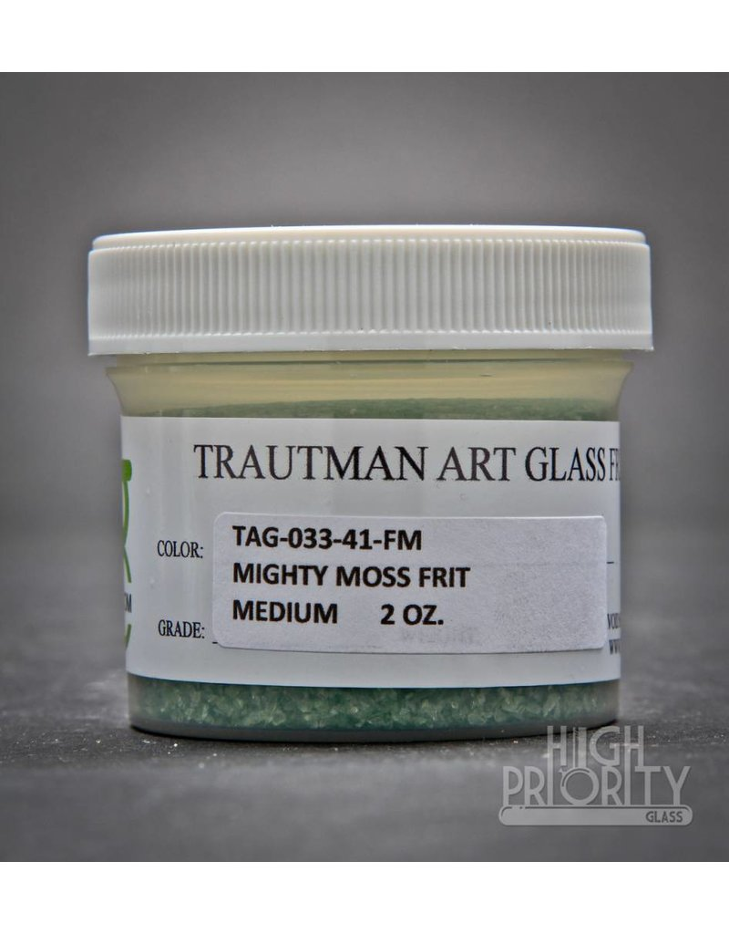 Trautman Art Glass TAG Frit Mighty Moss 2oz Medium