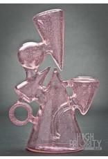 Boom Felazi Boom Felazi Pink Lollypop Geometric Bubbler