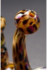 Triple A Glass Triple A Glass Leopard Print Crab Claw Bubbler