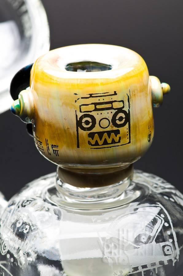 Pakoh Pakoh x Leisure Glass Robot Tree Perc Bubbler