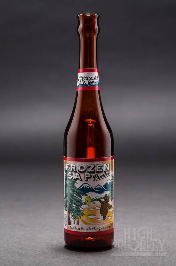 """Beer Glass Beer Glass """"Frozen Sap Porter"""" Bottle Tube #75/99"""