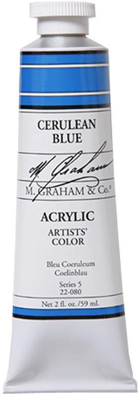 M GRAHAM M GRAHAM ACRYLIC CERULEAN BLUE 5OZ