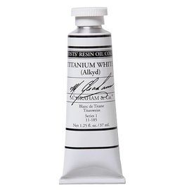 M GRAHAM M GRAHAM OIL TITANIUM WHITE ALKYD RAPID DRY  37ML