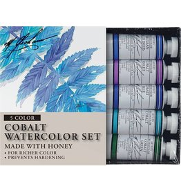 M GRAHAM M GRAHAM WATERCOLOUR SET/5 COBALT