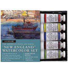 M GRAHAM M GRAHAM WATERCOLOUR SET/5 NEW ENGLAND