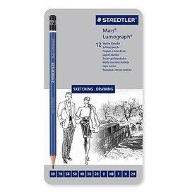 STAEDTLER STAEDTLER MARS LUMOGRAPH PENCIL SET/12 SOFT    100G12S