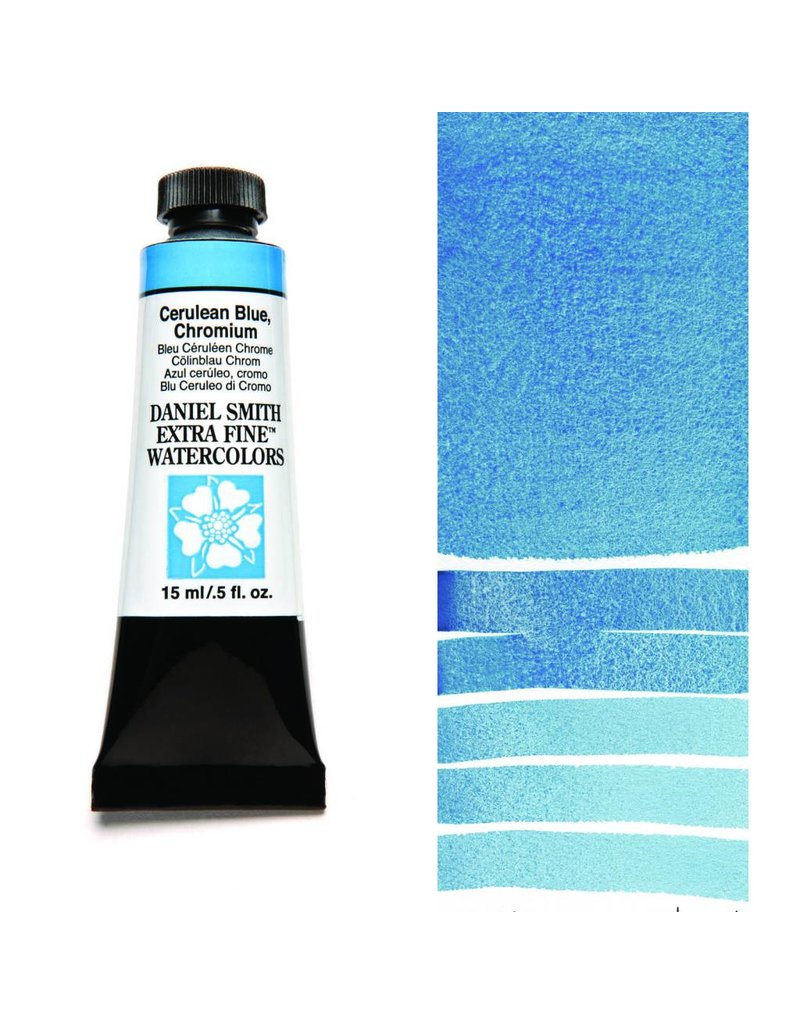 DANIEL SMITH DANIEL SMITH EXTRA FINE WATERCOLOUR CERULEAN BLUE CHROMIUM 15ML