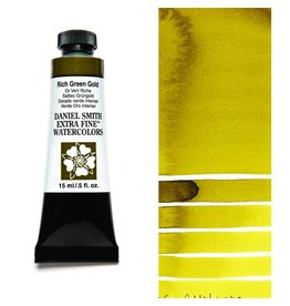 DANIEL SMITH DANIEL SMITH EXTRA FINE WATERCOLOUR RICH GREEN GOLD 15ML