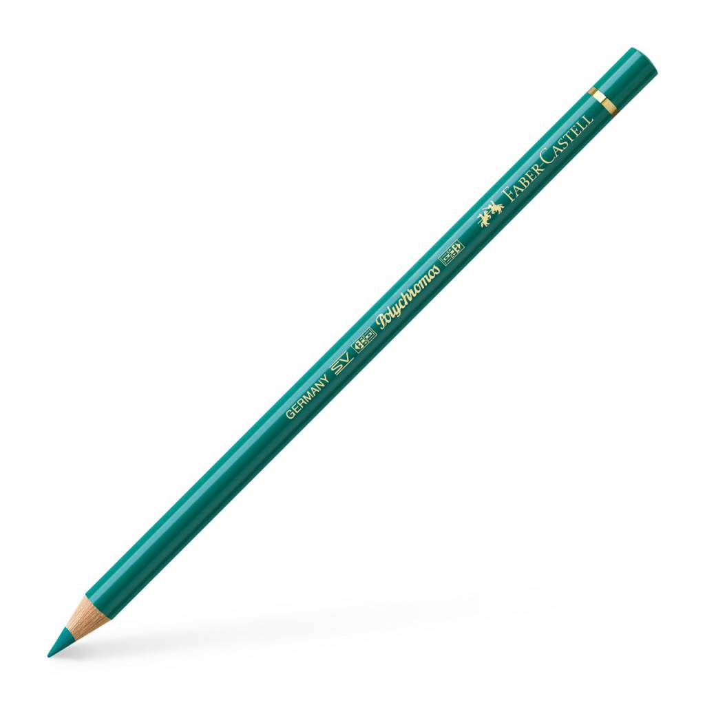 FABER CASTELL POLYCHROMOS PENCIL 276 CHROME OXIDE GREEN FIERY