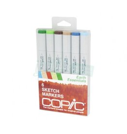 Copic COPIC SKETCH SET/6  EARTH ESSENTIALS