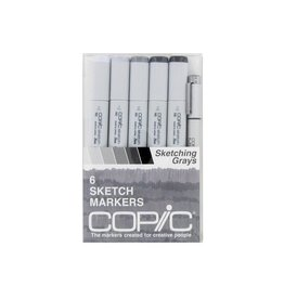 Copic COPIC SKETCH SET/6 SKETCHING GRAYS