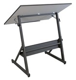 STUDIO DESIGNS STUDIO DESIGNS SOLANO ADJUSTABLE DRAFTING TABLE CHARCOAL/WHITE