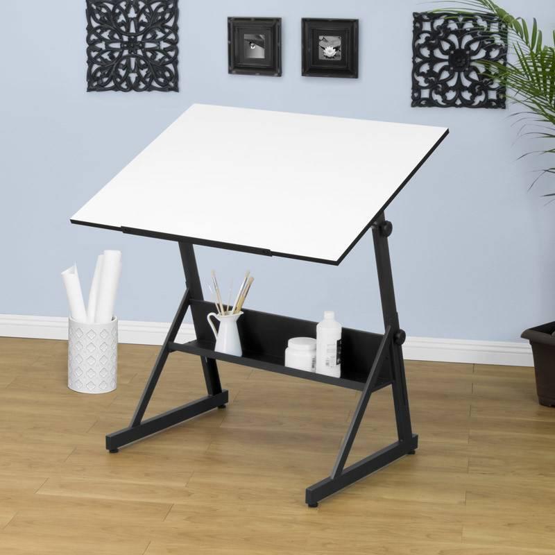 STUDIO DESIGNS STUDIO DESIGNS SOLANO ADJUSTABLE DRAFTING TABLE CHARCOAL/WHITE