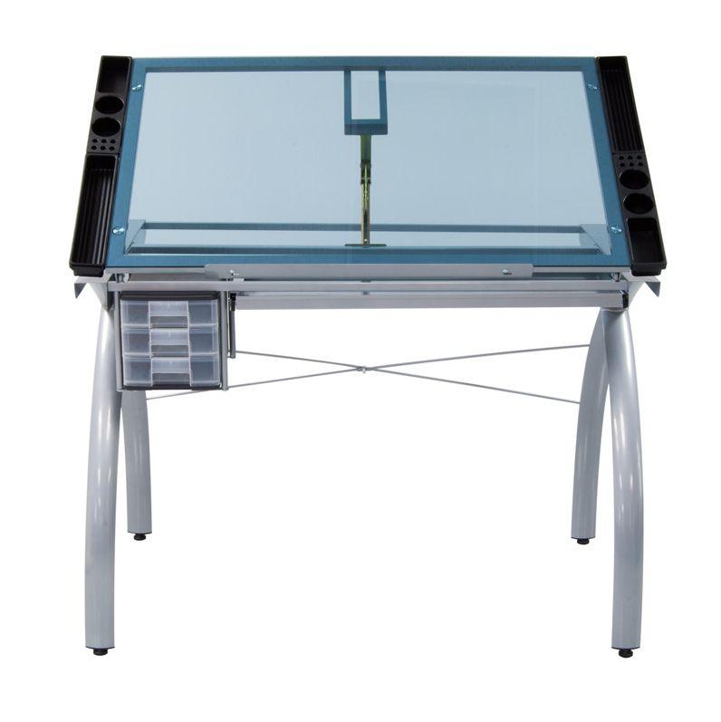 STUDIO DESIGNS FUTURA CRAFT STATION SILVER W/ BLUE GLASS
