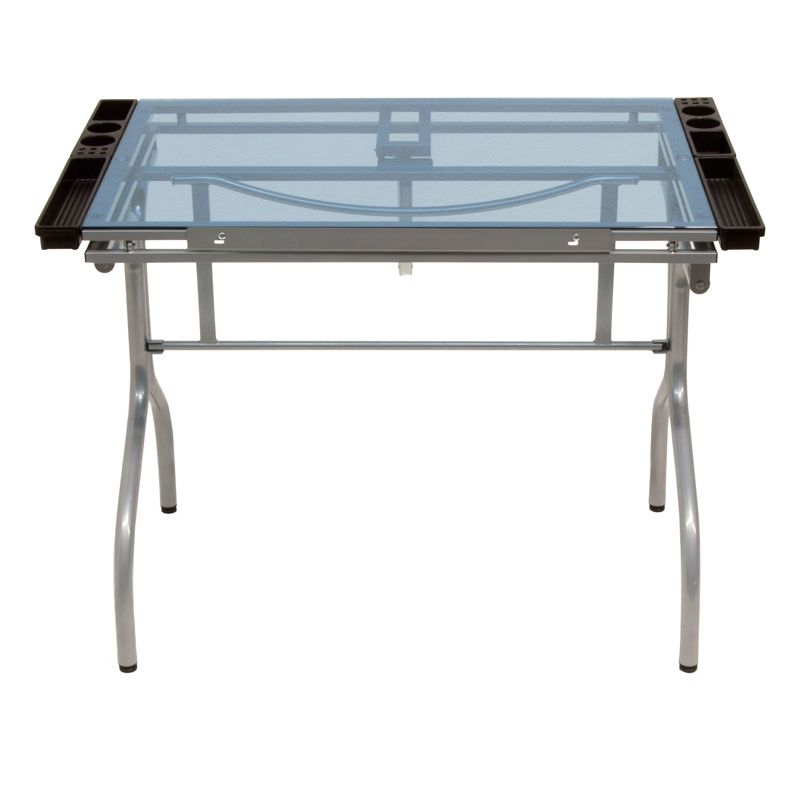 STUDIO DESIGNS FUTURA FOLDING CRAFT STATION SILVER/BLUE GLASS