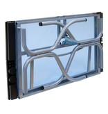 STUDIO DESIGNS FUTURA FOLDING CRAFT STATION SILVER/BLUE GLASS