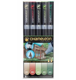 CHAMELEON CHAMELEON COLOUR TONES MARKERS NATURE SET/5