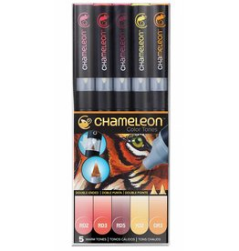 CHAMELEON CHAMELEON COLOUR TONES MARKERS WARM SET/5
