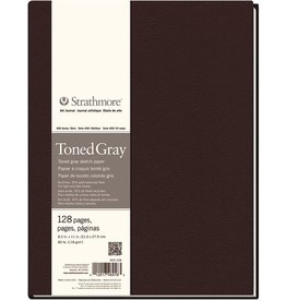 STRATHMORE STRATHMORE ART JOURNAL TONED GRAY HARDBOUND 8.5X11  80LB    STR-469-108