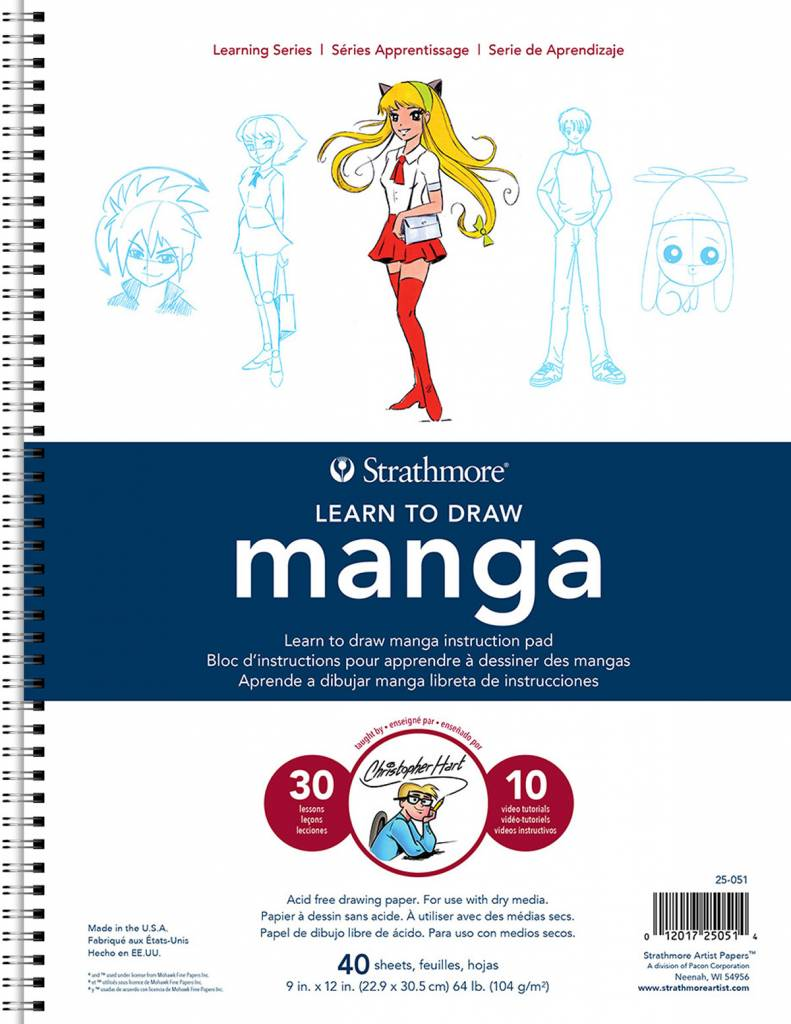 STRATHMORE STRATHMORE LEARNING SERIES LEARN TO DRAW MANGA 9X12 COIL BOUND