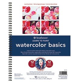 STRATHMORE STRATHMORE LEARNING SERIES LEARN TO PAINT WATERCOLOUR BASICS 9X12 COIL BOUND    025-151
