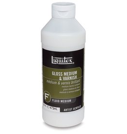 LIQUITEX LIQUITEX GLOSS MEDIUM & VARNISH 16OZ