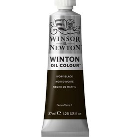 WINSOR NEWTON WINTON OIL COLOUR IVORY BLACK 37ML