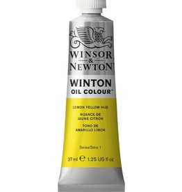 WINSOR NEWTON WINTON OIL COLOUR LEMON YELLOW HUE 37ml