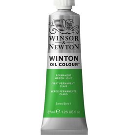 WINSOR NEWTON WINTON OIL COLOUR PERMANENT GREEN LIGHT 37ml