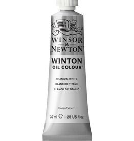 WINSOR NEWTON WINTON OIL COLOUR TITANIUM WHITE 37ml