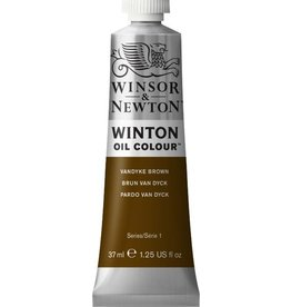 WINSOR NEWTON WINTON OIL COLOUR VANDYKE BROWN 37ML