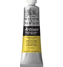 WINSOR NEWTON ARTISAN WATER MIXABLE OIL COLOUR CADMIUM YELLOW PALE HUE 37ML