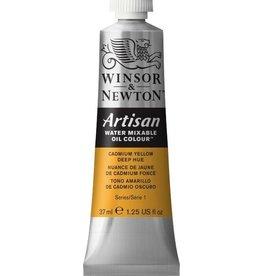 WINSOR NEWTON ARTISAN WATER MIXABLE OIL COLOUR CADMIUM YELLOW DEEP HUE 37ML