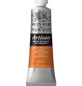 WINSOR NEWTON ARTISAN WATER MIXABLE OIL COLOUR CADMIUM ORANGE HUE 37ML