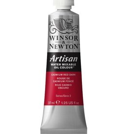 WINSOR NEWTON ARTISAN WATER MIXABLE OIL COLOUR CADMIUM RED DARK 37ML