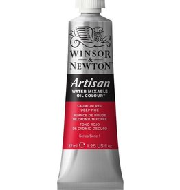 WINSOR NEWTON ARTISAN WATER MIXABLE OIL COLOUR CADMIUM RED DEEP HUE 37ML