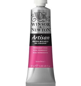 WINSOR NEWTON ARTISAN WATER MIXABLE OIL COLOUR PERMANENT ROSE 37ML